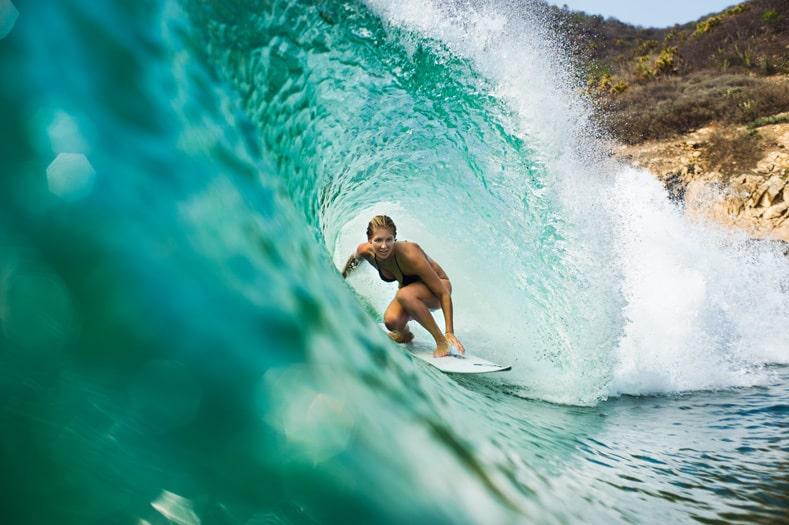 surfer barrel