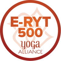 Yoga alliance E-RYT 500 logo