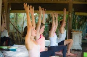 low lunge yoga class