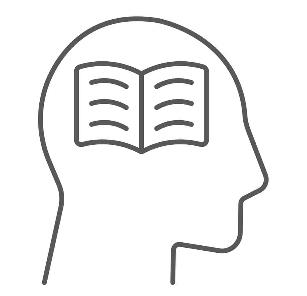 book in head