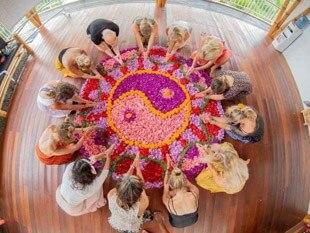 Yogis around Mandala